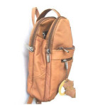Cowhide Leather Backpack (TAN)