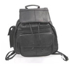 Leather Backpack with String Closure