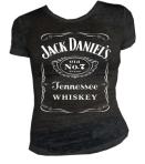 Ladies Black Jack Daniels  No 7 Burnout Shirt
