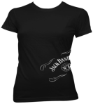 Ladies Jack Daniels Side Foil Scroll Shirt Available in Black Only