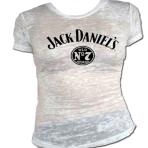 Ladies White Jack Daniels  No 7 Burnout Shirt