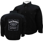 Mens Jack Daniels Black Fashion Label Long Sleeved Button Shirt