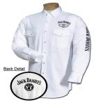 Mens White Jack Daniels Replenishment Woven Shirt