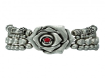 Montana Silver Antique Silver Red Rose & Beads Bracelet