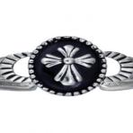 Montana Silver  Cross w/Blk Agate Bracelet