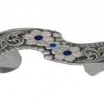 Montana Silver True Blue Wildflower Spray Cuff
