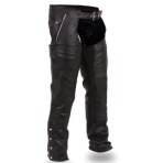 Soft Naked Black Cowhide Chaps