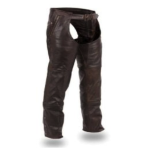 Soft Naked Brown Cowhide Chaps